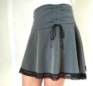 Skirt- Gray w/ black laces