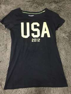 Old Navy Basic Shirt with Neon Yellow USA