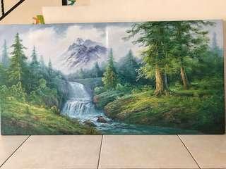 Oil paint Canvas