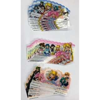全新 日版金貼 SAILOR MOON 美少女戰士 World代膠片一套共3款