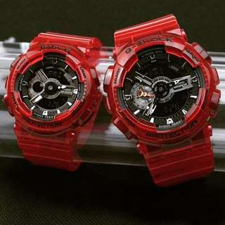 Authentic Gshock Couple coral reef