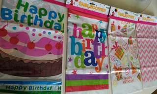 Birthday Party design Tablecover sheet (180 x 108cm)