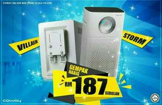 COWAY CHEAPEST DEAL EVER for 2 Products at RM187