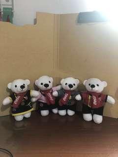 🚚 絕版麥當勞制服北極熊娃娃(4隻ㄧ組)