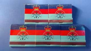 殖民時代英軍火柴5盒