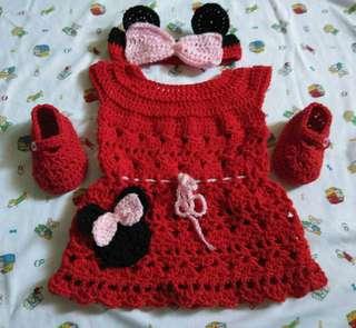 Crochet Minnie Mouse Dress 😊💖