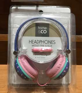 Headphones home&co medley pink and blue