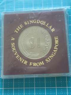Singapore $1 Year 1983, In plastic case , UNC