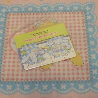 日本sanrio玉桂狗cinnamoroll格仔小鳥磁石書簽