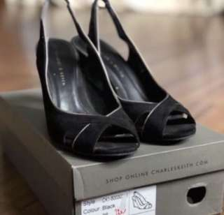 Charles and Keith wedge heels size 6