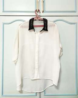 Flowy studded top