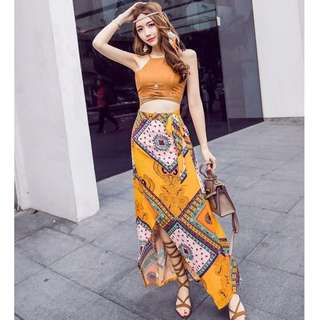 Dress Collection - Sexy Bohemian Style Beach 2 Pieces Dress