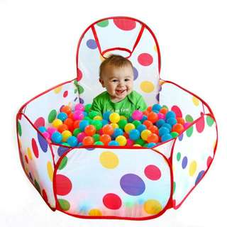 Indoor Kids Game Play Toy Tent Outdoor Portable Ocean Ball Pit Pool with 25 balls