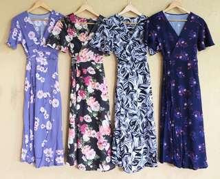 Kira Overlap Maxi Dress