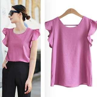 《17% off》韓國直送ruffle blouse