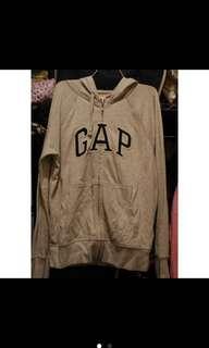 🚚 Gap薄款灰色連帽外套M