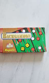 new! magnetic backgammon game