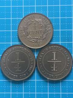 Singapore Mint Replica - Straits Settlement Coins (3pcs)