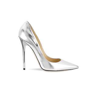 Parisian Metallic Silver Pointed Heels