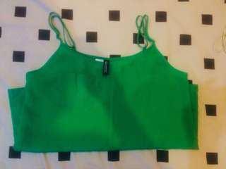 H&M strappy top green