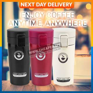 Stainless Steel Thermo Coffee Mug Cup with Lid Vacuum Car Bottle