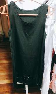 Blaxk dress with flower cut outs