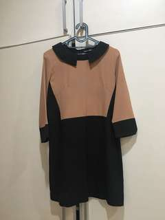 Dress coklat hitam