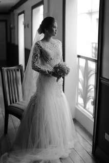 Elegant Timeless Embellished Wedding Gown Mermaid Cut Nude / Transparent Top Michael Cinco Inspired