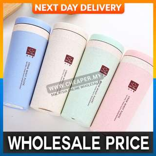 Wheat Stalk Fiber Double Insulated Bottle Portable Sport Travel Creative Gifts