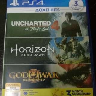 PS4 HIT BUNDLE (HORIZON ZERO DAWN & UNCHARTED 4 ONLY)