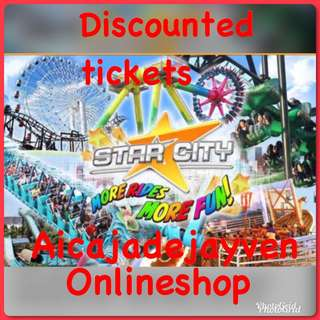 Star city discounted tickets for sale!!!!