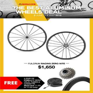Promo! Fulcrum Racing Zero Nite Road Wheelset