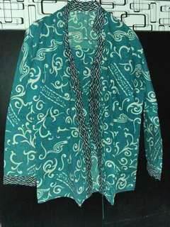 Baju batik hijau tosca