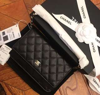 Chanel WOC Caviar Leather