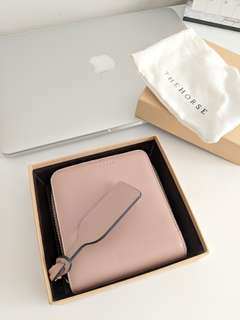 The Horse Mini Block Wallet in Blush