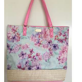 Forever New Floral Pink Tote Bage