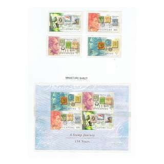 Miniature Sheet and Mint stamps combined A 150 years Stamp  Journey