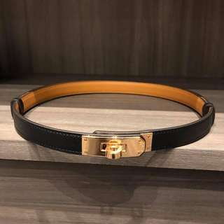 Hermes 黑金 Epsom kelly belt