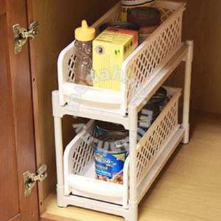 PORTABLE 2 TIER BASKET