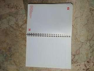 Empty brand new notebook