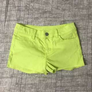 H&M Divided Neon Green Shorts