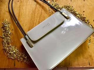 Grey Glossy Handbag