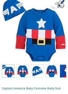 Captain America Baby suit with hat (preorder)