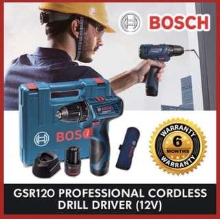 TODAY PROMO - Bosch Cordless Drill Driver 12V GSR 120-LI