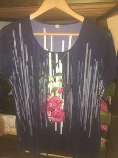 🚚 開襯式淑女印花短袖 設計款