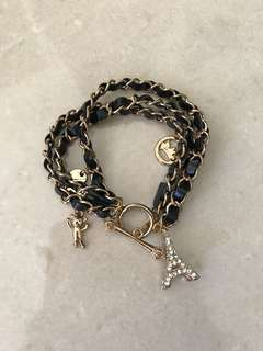 Paris Eiffel Tower Bracelet with Charm