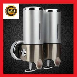 Shampoo Dispenser Conditioner Shower Gel Liquid Soap Wall Mount Bathroom Kitchen Sink Mounted Bottle Container Case