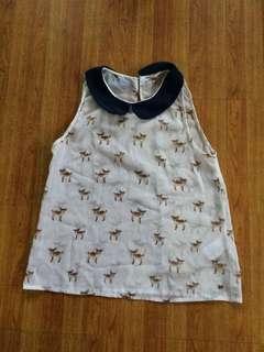 Cute Deer-Printed Top