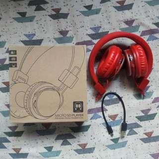 Micro SD & FM Stereo Radio Wireless Headset