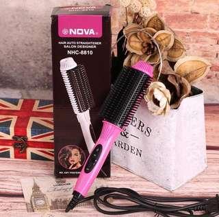 Ceramic hair straightener/ Curler comb brush